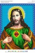 Рисунок на габардине для вышивки бисером Найсвятіше Серце Ісуса