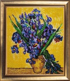 Набор для вышивки бисером Ирисы по мотивам картины Ван Гога, , 554.00грн., 151Б, Баттерфляй (Butterfly), Цветы
