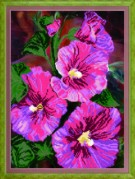 Схемы для вышивания бисером на авторской канве Цветы