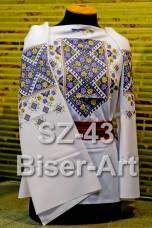 Заготовка для вышивки бисером Сорочка женская Biser-Art Сорочка жіноча SZ-43 (габардин)