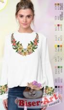 Заготовка вышиванки Женской сорочки на белом габардине Biser-Art SZ10