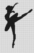 Набор для вышивки крестом Балерина