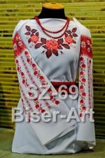 Заготовка для вышивки бисером Сорочка женская Biser-Art Сорочка жіноча SZ-69 (льон)