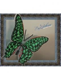 Набор для вышивки бисером на прозрачной основе Бабочка Графия Агамемнон, , 160.00грн., BGP-023, Вдохновение, Брошки для вышивки бисером