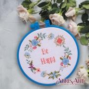 Набор для вышивки крестом Будь счастлив