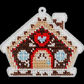 Набор для вышивки бисером на пластиковой основе Пряничный домик