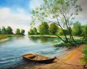 Набор для выкладки алмазной мозаикой Лодка у берега