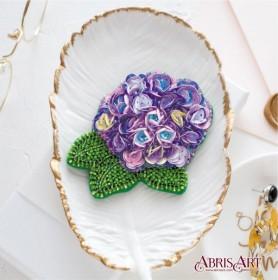 Набор для вышивки бисером украшения Прекрасная гортензия