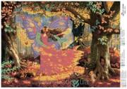 Схема вышивки бисером на атласе Фея Осени