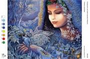 Рисунок на габардине для вышивки бисером Сніжна королева