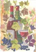 Схема вышивки бисером на габардине Вино