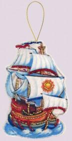 Набор для изготовления игрушки из фетра для вышивки бисером Корабль Баттерфляй (Butterfly) F102 - 54.00грн.