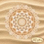 Схема вышивки бисером на атласе Мандала Райский пляж