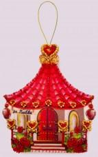 Набор для изготовления игрушки из фетра для вышивки бисером Домик любви Баттерфляй (Butterfly) F143