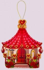 Набор для изготовления игрушки из фетра для вышивки бисером Домик любви Баттерфляй (Butterfly) F143 - 54.00грн.