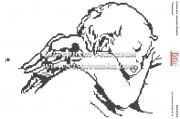 Схема для вышивки бисером на атласе Ангелочек