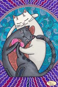 Схема для вишивання бісером на атласі Кошачій лямур Tela Artis (Тэла Артис) ТА-422 - 95.00грн.