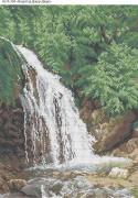 Схема для вышивки бисером на габардине Водопад Джур-Джур