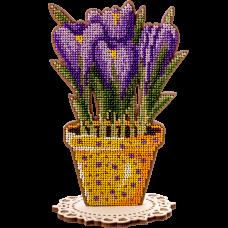Набор для вышивки по дереву Первоцветы Волшебная страна FLK-197