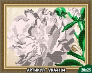 Рисунок на ткани для вышивки бисером Пион