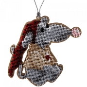 Набор для вышивки бисером по дереву Крыса
