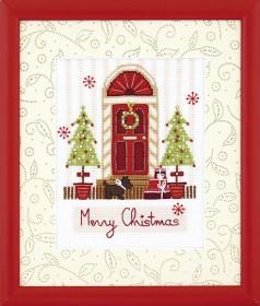 Набор для вышивания крестом Счастливого Рождества Cristal Art ВТ-221 - 122.00грн.