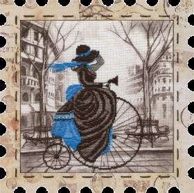 Набор для вышивки нитками Велосипед, , 274.00грн., КО4011, Новая Слобода (Нова слобода), Городские пейзажи