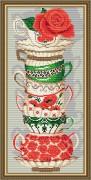 Набор для выкладки алмазной мозаикой Чашки с розой