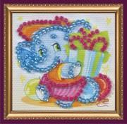 Набор - магнит для вышивки бисером Слоненок