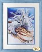 Набор для вышивки бисером на атласе Белоснежные цапли