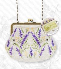 Косметичка для вышивки крестом Цветы Luca-S BAG027