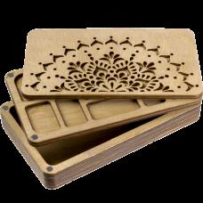 Органайзер для бисера многоярусный с деревянной крышкой FLZB-079 Волшебная страна FLZB-079