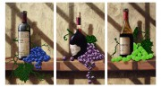 Схема для вышивки бисером на атласе Винная коллекция (Триптих)