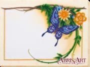 Набор для вышивки бисером Фоторамка Голубая бабочка