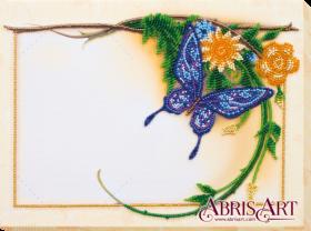 Набор для вышивки бисером Фоторамка Голубая бабочка Абрис Арт АР-006 - 182.00грн.