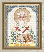 Схема для вышивки бисером на габардине Святой Лев Катанский