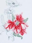 Набор для вышивки крестом Красные тюльпаны
