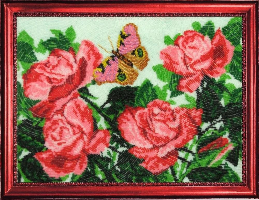 Наборы вышивка бисером розы