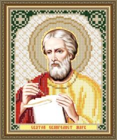 Схема вышивки бисером на авторской канве Святой Евангелист Марк