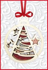 Набор новогоднее украшение из фанеры Новогодняя игрушка Ёлочка