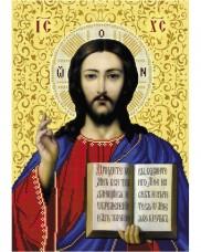 Схема вишивкі бісером на габардині Ісус Христос Acorns А3-И-480