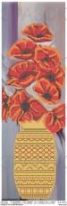 Схема вышивки бисером на атласе Панно Маки в вазе Юма ЮМА-П-42