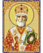 Схема вишивкі бісером на габардині Святитель Миколай Чудотворець