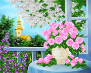 Рисунок на ткани для вышивки бисером Весенний сад