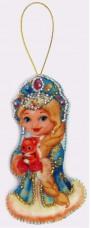 Набор для изготовления игрушки из фетра для вышивки бисером Снегурочка Баттерфляй (Butterfly) F027