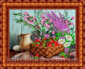 Набор для вышивки бисером Корзина с клубникой
