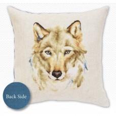 Набор подушки для вышивки крестом Волк Luca-S РВ164
