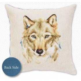 Набор подушки для вышивки крестом Волк, , 441.00грн., РВ164, Luca-S, Подушки