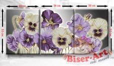 Схема для вышивки бисером Триптих Братики Biser-Art ТМ10