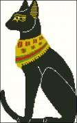 Схема вышивки бисером на атласе Кот